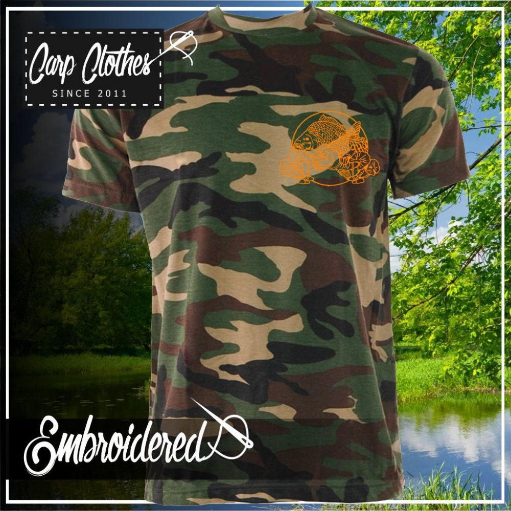 035 EMBROIDERED CAMO T SHIRT